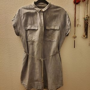 Zara Light Denim Dress